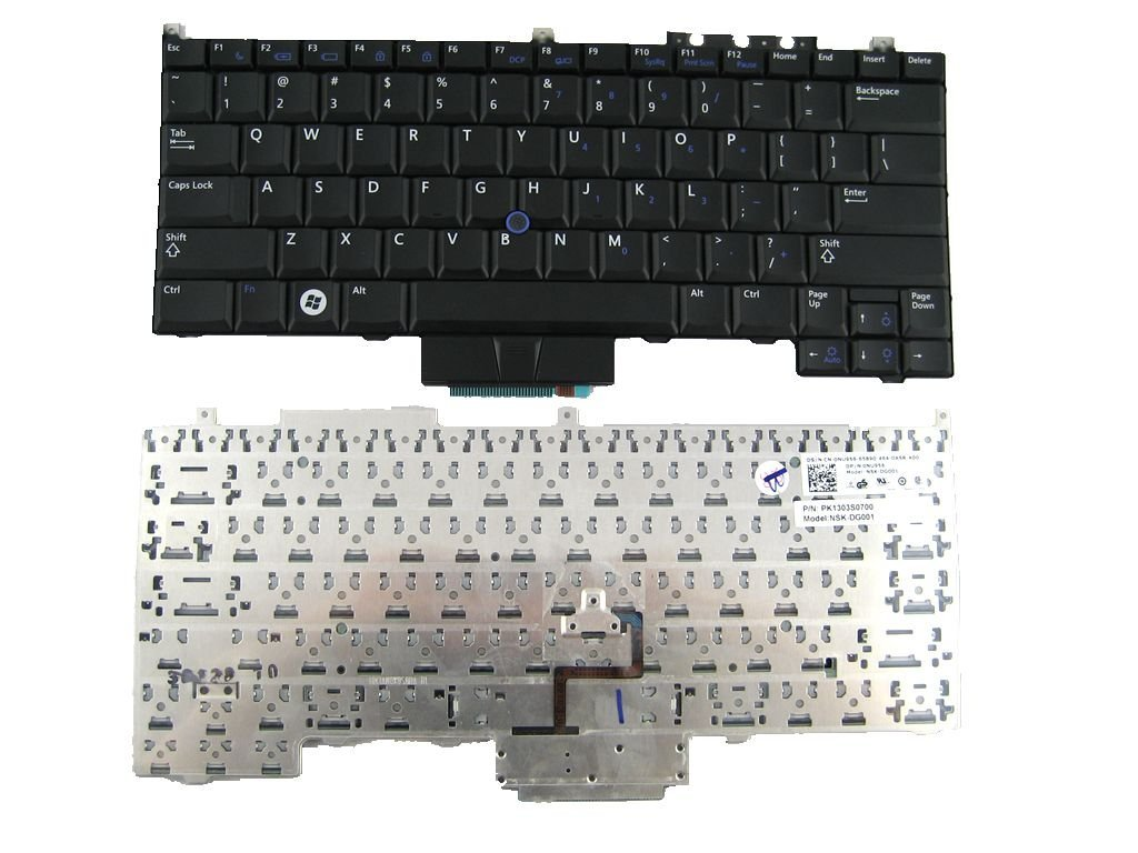 LotFancy New Non-backlit US Laptop Keyboard for DELL E4300 With track point part No. 9J.N0X82.001 NSK-DG001 NU956 0NU956 PK1303S0700