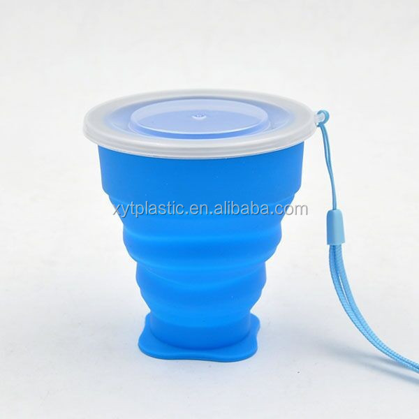 Food Grade Foldable Water Bottle, Silicone Drink Bottle, Folding Water Bottle