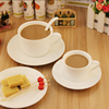 Haonai antique white ceramic coffee set
