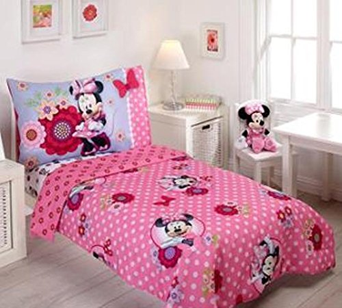 Disney Minnie Mouse Bow Power 4-Piece Toddler Bedding Set