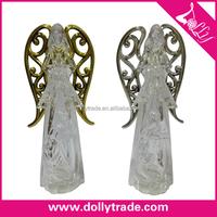 Standing Praying Angel Statue PVC Christmas Angles Crafts