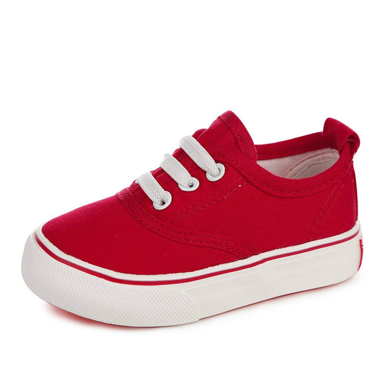 bc9825cd38e05 Get Quotations · Batsomer Children Canvas Shoes Kids Shoes for Girl White  Boys Sneakers Toddler Girls Baby Shoes
