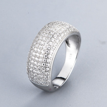 aaaa cz rings for women pave setting black stone