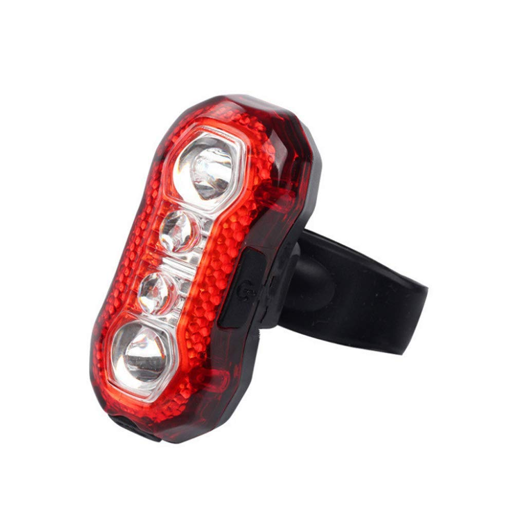 ZOUQILAI Rechargeable LED Bike Rear Tail Light Super Bright 5 Modes Red Safety Cycling Light Fits On Any Bicycles Helmet Backpack