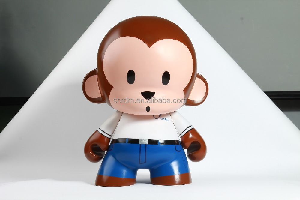 Hot Custom Own Design Adorable Monkey Munny 7'' DIY Vinyl Toys/OEM Do It Yourself Kidrobot Munny Dunny Vinyl Toys Factory Price