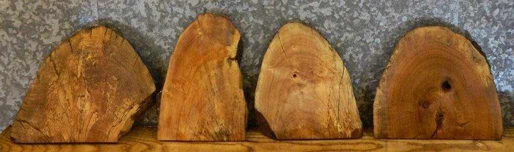 4- Spalted Maple Natural Edge Taxidermy Base/Craft Pack Wood Slabs 12184-12185,12195-12196 T: 1 9/16'', W: 13 3/8'', L: 11 7/8'' - 12184-12185,12195-12196