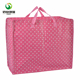 Personalized red white dot big capacity shopping zipper bag with laminated
