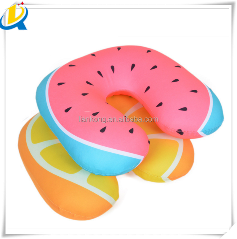 Bubble particle heat transfer printing u-shaped cheap neck pillow