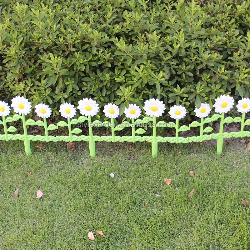 Decorative Border Economic Diy Daisies Garden Fence View