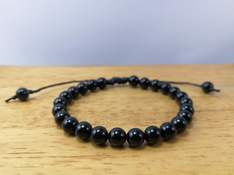 6 mm,Black Tourmaline Bracelet,Mala bracelet,tourmaline bracelet,Healing Stones For Protection,Chakra Bracelet,Yoga Jewelry,Mens Beaded Bracelet - size 6.5,7.,7.5,8,8.5 inches