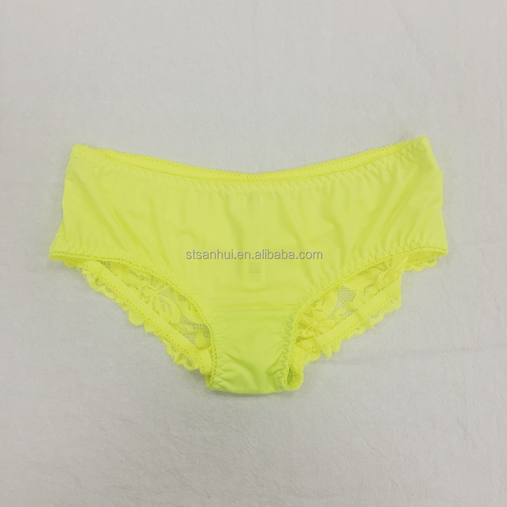 OEM Female Sexy Images Panti See Through Basic Lace Brief Direct Factory