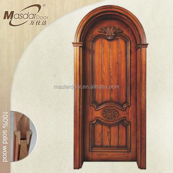 Simple round arch wooden doors karachi buy wooden doors for Round door design