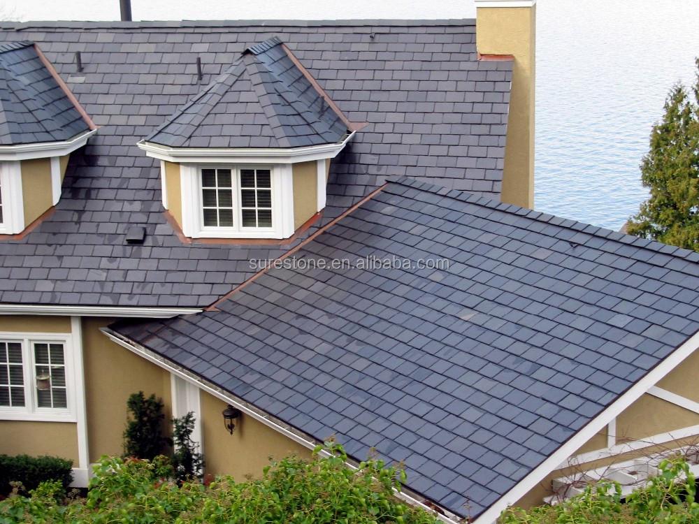Roofing slate natural slate roof covering tiles black for Slate roof covering
