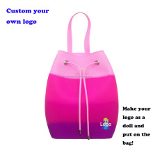 candy color silicone backpack with scent waterproof silicon jelly backpack