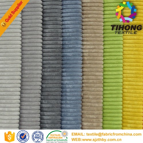 hot sale 100% cotton 11 wale dyed grey corduroy fabric made in China