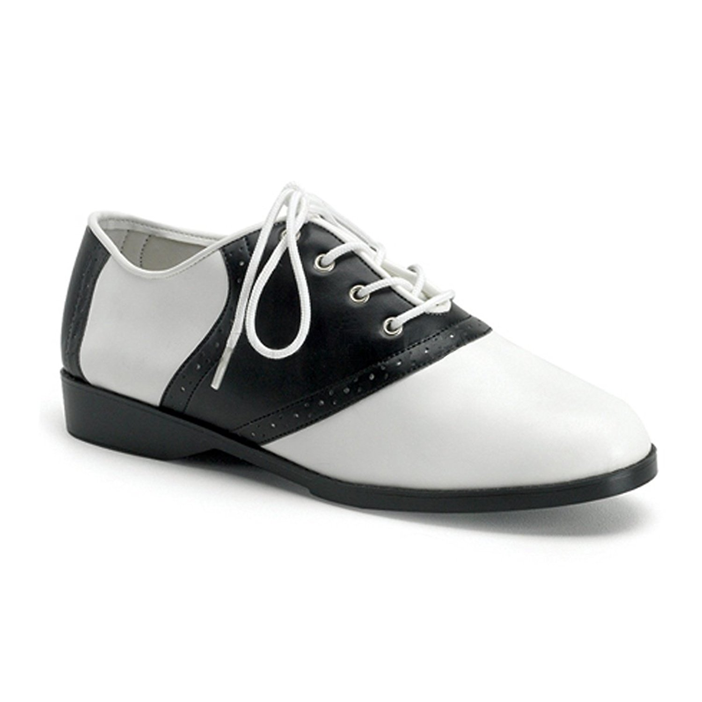 961a619e Get Quotations · Summitfashions Cute Saddle Shoe Womens Flat Shoes Sexy  Flats Black White