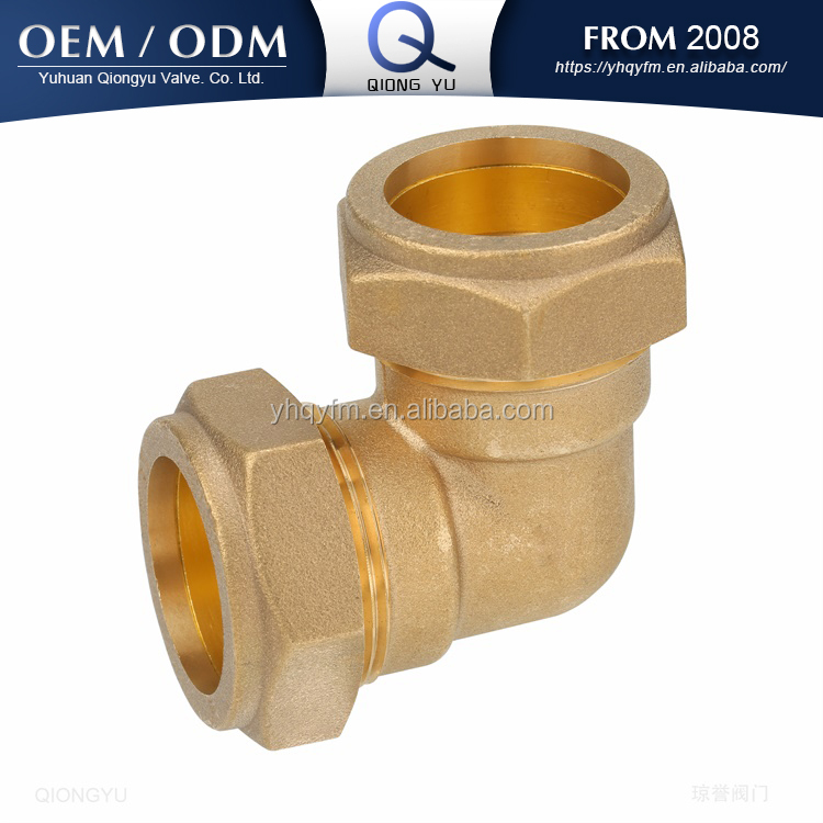 brass compression fitting elbow 90 degree pipe fitting tube fitting