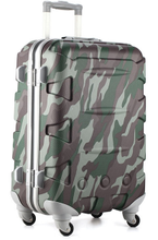 Motif coloré camouflage valise <span class=keywords><strong>fantaisie</strong></span> voyage <span class=keywords><strong>bagages</strong></span>