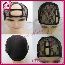 U part wig caps for making wigs only stretch lace weaving cap adjustable straps back high quality guarantee free shipping