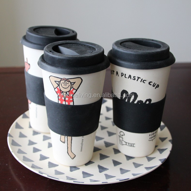 Coffee Cup Bamboo With Silicon Cover