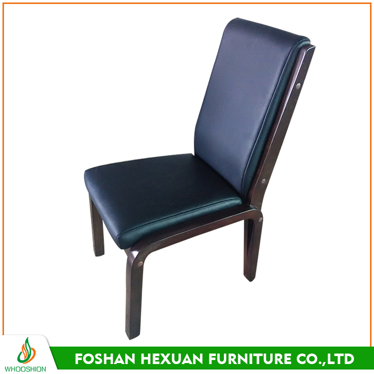 Rubber wood no deformation office sythetic leather chair without armrest