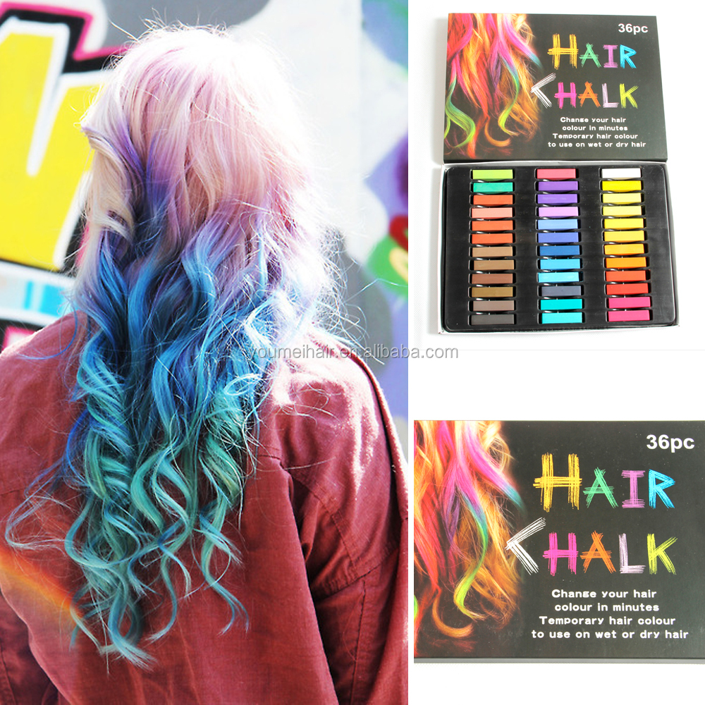 24 Colors Glossy Washable Temporary Hair Chalk For kinds of hair style