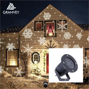Garden Outdoor waterproof snow falling Projector led landscape lights christmas