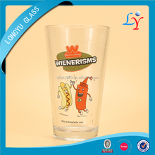 bar glassware promotional gift glass cup drinking tumbler glass beer pint glass with brand logo