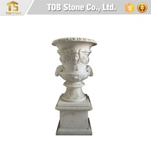 China best white marble planter for garden