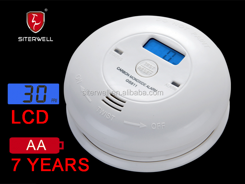 TUV certified stand alone carbon monoxide detector GS 811