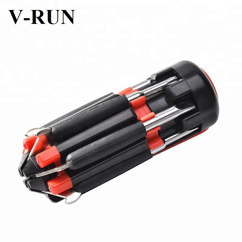 Tools 6 In 1 Multi Screwdriver Car Hammer Auto Seatbelt Cutter Glass Window Punch Breaker Precision Multi-bit Screwdriver Led Torch