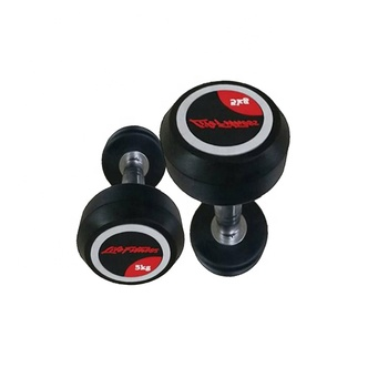 commercial fitness accessory portable TPU 10kg gym dumbbell gym equipment set