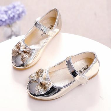 Fancy children shoes casual design leather fashion cute kids girl dress shoes