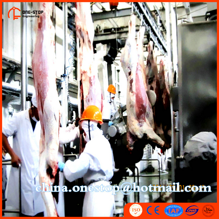 Turnkey Project Cattle and Sheep Slaughter Line Halal Cow Slaughter Line Machine Food Processing Production Line Halal Slaughter