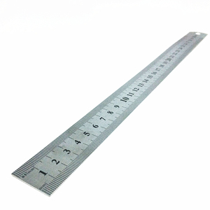 12 Inch Metal Ruler 30CM Stainless Steel Straight Ruler