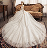 Q065 In Stock 2019 New Bridal Wedding Gowns Sexy Lace Bridal Ball Gowns Short Sleeves Luxury Wedding Dress with Long Tail