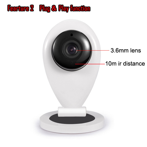 cmos wireless Mini Wifi IP Camera supporting TF card(max 32GB) made in china shenzhen funi manufacturer factory