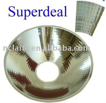 430mm 600mm Dichroic Glass Reflector,OT Light Parabolic Reflector,Single  Dome Aluminum Reflector