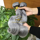 2017 new product Wholesale cheap 100% brazilian grey human hair weaving body wave for braiding free shipping