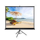 80 inch portable outdoor tripod projector projection screen frame projector with stand