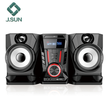 Home Karaoke Speakers Wooden Home Theater Sound Speaker System Multimedia Speaker With Mic Input