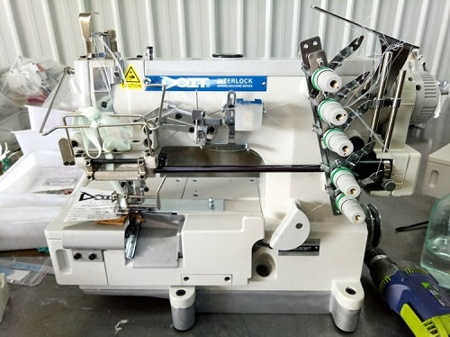 DT500-05CB/FT Elastic or Lace Attaching Interlock Industrial Sewing Machine Price with Right Side Fabric Trimmer