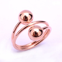 unique handmade jewelry rose gold plated brass ring without stone
