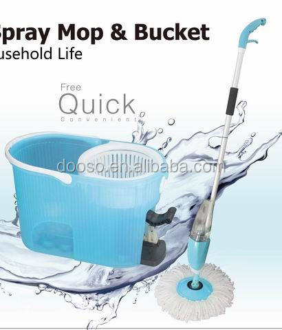 2016 Special design Super New Magic Spin and spray mop with bucket