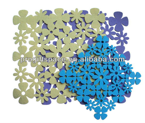 Free Samples Hot China Wholesale Laser Cut Eco Polyester Custom Made Christmas Snowflake Decor Star Design Felt mdf Placemat