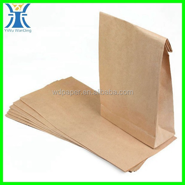 Yiwu New Arrived small wholesale blank large craft recycle Fancy Brown Candy paper bags for supermarkets
