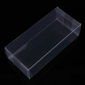 customized folding PVC/PP/PET plastic transparent clear window display gift box
