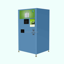 Reverse vending machine for glass