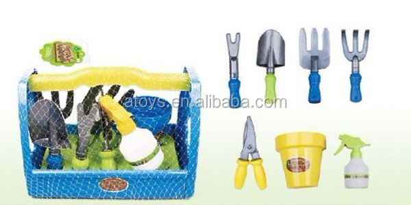 7 PCS Happy Garden Toy For Kids Toys Garden Tool Set With Custom Logo