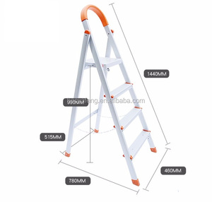 HJF GW-330 Eco-friendly new design aluminium folding ladder with 4 steps for household